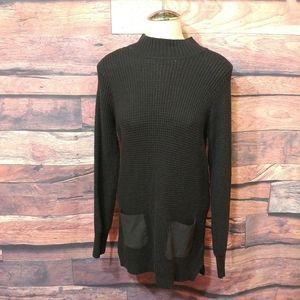 Banana Republic black cable sweater dress